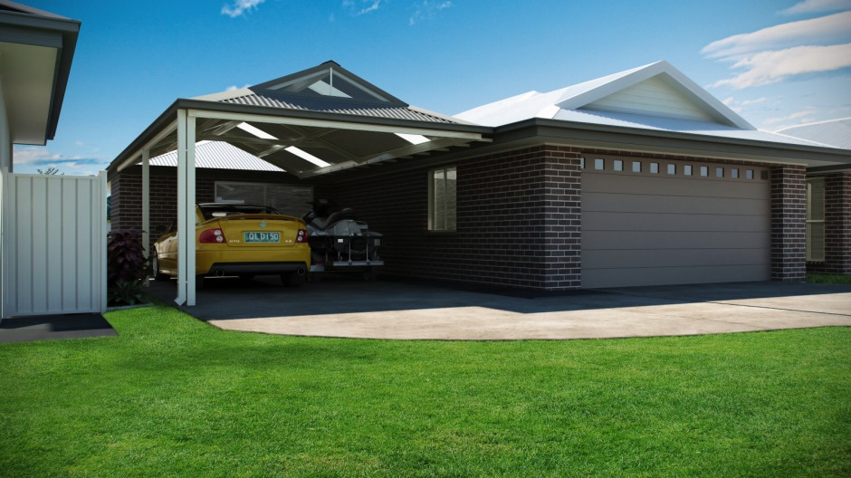 Carport for Car and Jetski 2