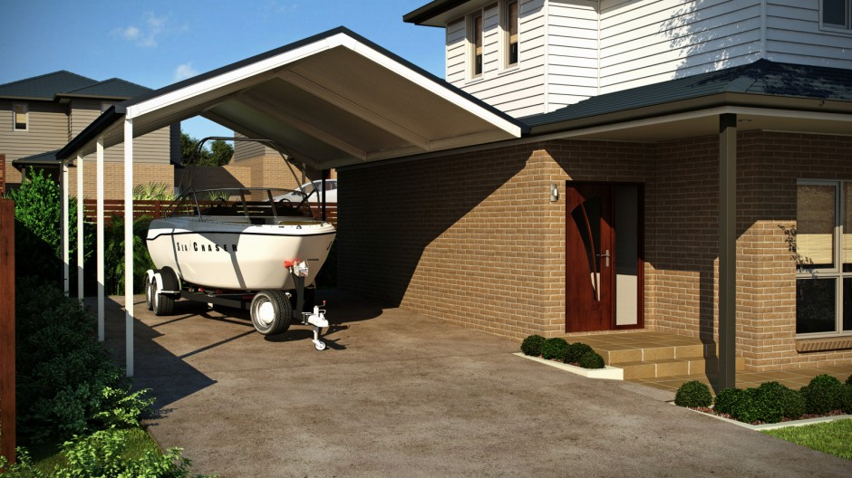 Carport to protect boat