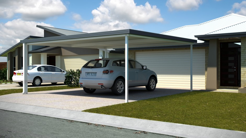 Simple affordable carport increases parking space